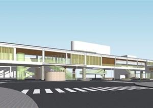 日本新山口车站方案模型