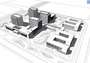某市办公楼产业园规划模型