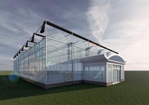 玻璃温室高清效果图(带模型)