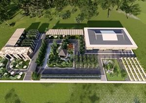 温室内部景观设计,可以用于参观,餐饮,休闲,观光,采摘,温室内部景观设计,可以用于参观,餐饮,休闲,