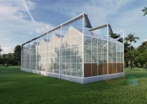 玻璃温室效果图(含内部空间设计及效果图两张,甲方可直接用于展示打印)