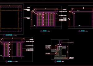 新中式现代中式日式风格铝板景观亭子廊架施工图详图