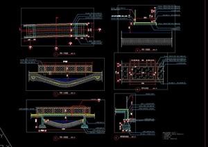 玻璃桥栏杆护栏人行小平桥施工图详图