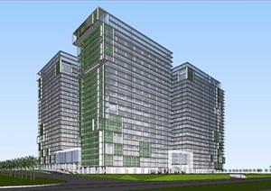 某市绿色产业园建筑 体块方案拉通