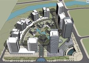 某市区宜昌创业总部基地模型