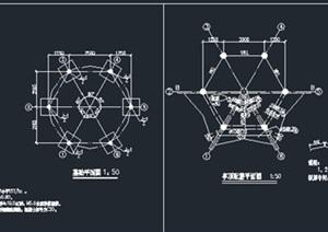 六角凉亭参考大样图及效果图