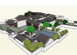 古建 扬州何园 模型