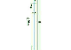 标准段围墙 详图施工图