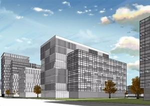 某市高新科技产业园区模型