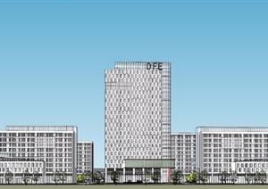 某市烟台东方电子产业园模型