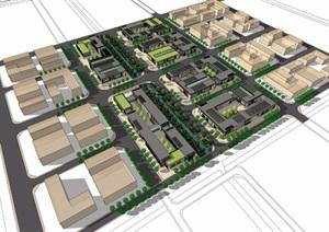 某市综合产业园园区规划模型