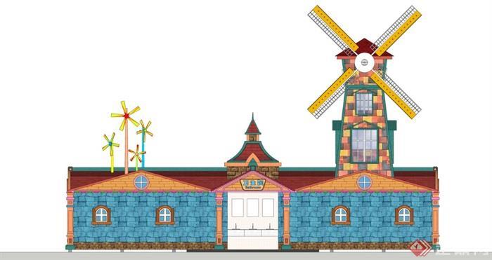 风车主题卫生间1-2