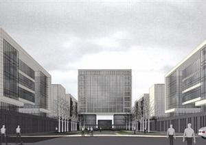 某市中法产业园概念模型