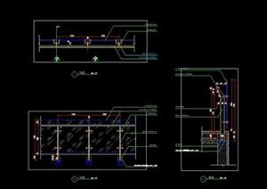 不锈钢玻璃栏杆护栏围栏CAD施工图详图