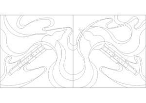 石板雕花图案CAD施工图、素材